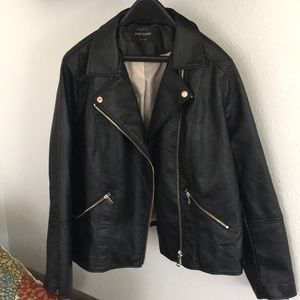 River Island Faux Leather Jacket ASOS